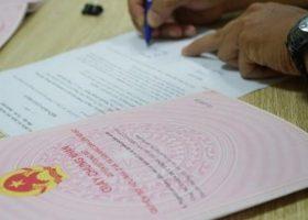 Thủ tục cấp sổ đỏ cho đất mua bán, tặng cho bằng giấy viết tay